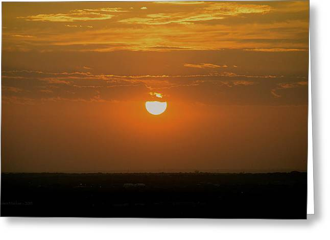 Bad Ass Greeting Cards - Sun Set Over SA Greeting Card by Shawn Marlow