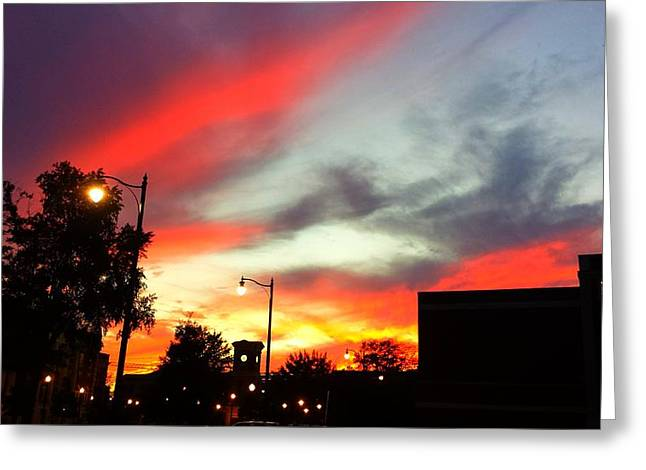 University Of Alabama Greeting Cards - Sun Sets on Aggies Greeting Card by Kenny Glover