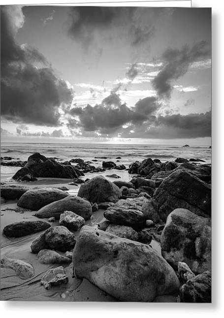 Amazing Sunset Greeting Cards - Sun Setting On The Beach III Greeting Card by Marco Oliveira