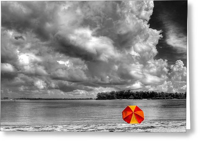 Ocean Art. Beach Decor Greeting Cards - Sun Shade Greeting Card by HH Photography of Florida