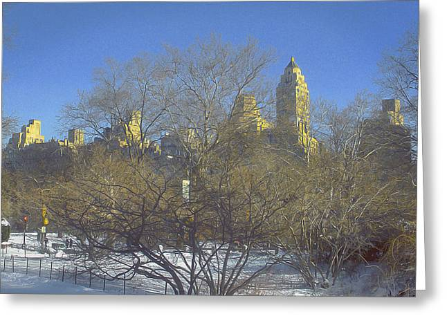 Stroll In The Park Greeting Cards - Sun Shines On Us Greeting Card by Muriel Levison Goodwin