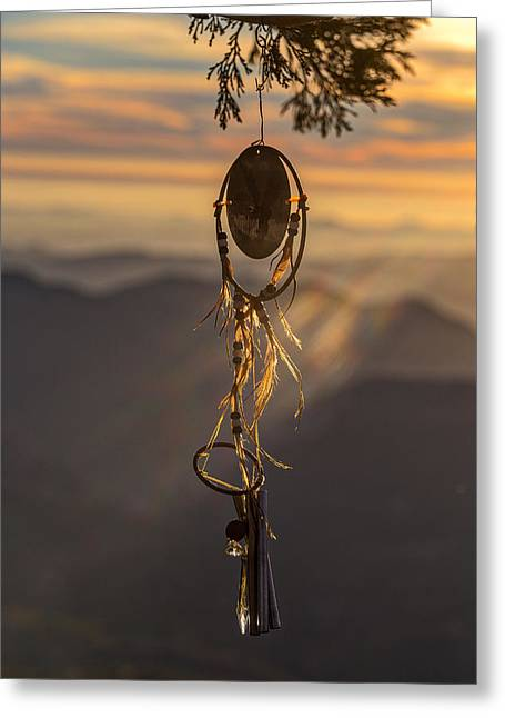 Amulets Greeting Cards - Sun Shines Through the Dream Greeting Card by Peter Tellone