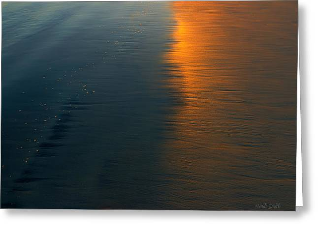 Abstract Beach Landscape Greeting Cards - Sun Soaked Beach Greeting Card by Heidi Smith
