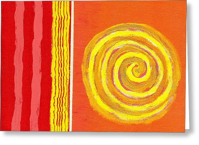 Jeremy Greeting Cards - Sun spinning to collision Greeting Card by Jeremy Aiyadurai