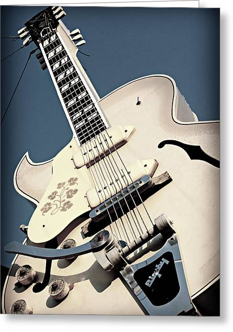 Motel Art Greeting Cards - Sun Studio Gibson Bigsby Greeting Card by Stephen Stookey