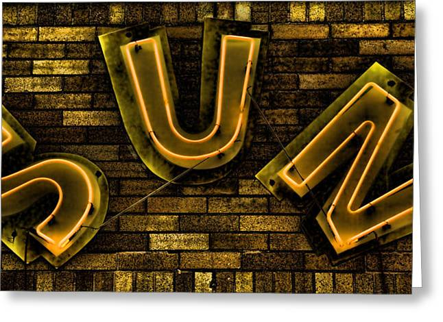 Music History Greeting Cards - Sun Studio Neon 3 Greeting Card by Stephen Stookey