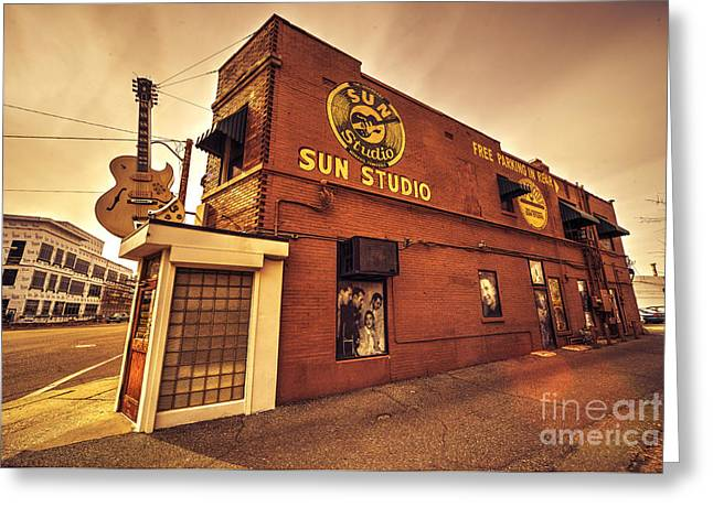 Sun Studio Greeting Cards - Sun Studios Memphis  Greeting Card by Rob Hawkins