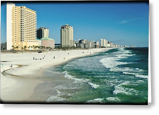 Panama City Beach Greeting Cards - Sun Surf Sand and Condos Greeting Card by George Taylor