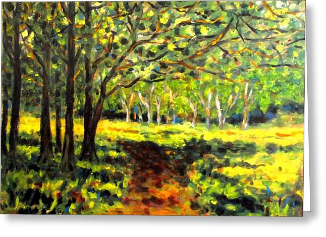 Greeting Cards For Sale Greeting Cards - Sun Through The Trees Greeting Card by John  Nolan