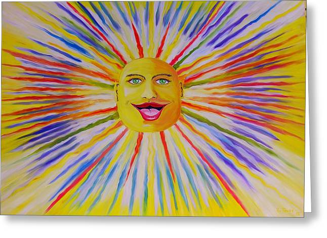 Prisma Colored Pencil Paintings Greeting Cards - Sun Too Greeting Card by Ru Tover