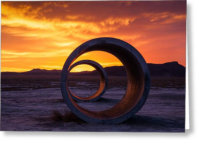 Desert Greeting Cards - Sun Tunnels Greeting Card by Peter Irwindale