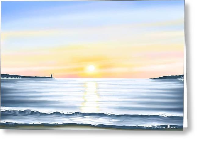 Sun Greeting Card by Veronica Minozzi