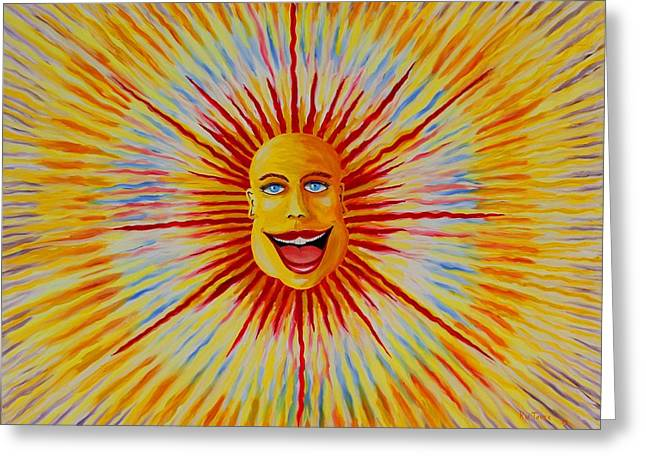 Prisma Colored Pencil Paintings Greeting Cards - Sun Yea Greeting Card by Ru Tover