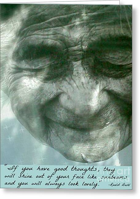 Roald Dahl Greeting Cards - Sunbeam Face Greeting Card by Beth Saffer