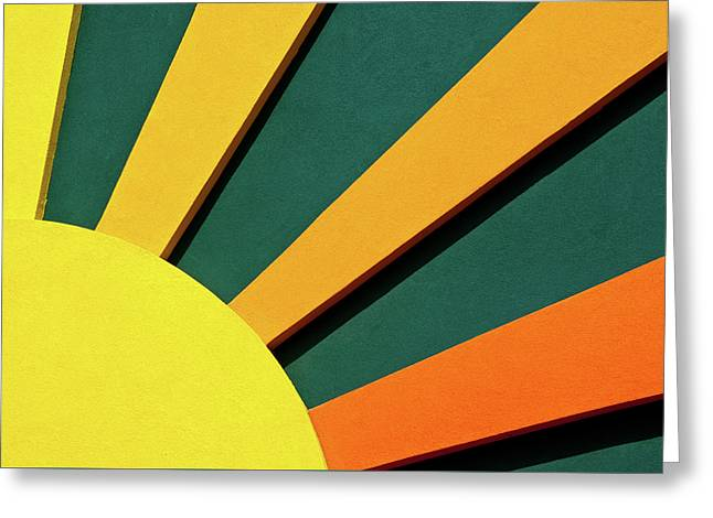 Painted Wood Greeting Cards - Sunbeams Greeting Card by Christi Kraft
