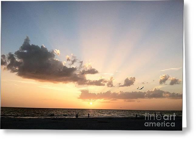 Paradise Road Greeting Cards - Sunbeams Greeting Card by Melissa Darnell Glowacki