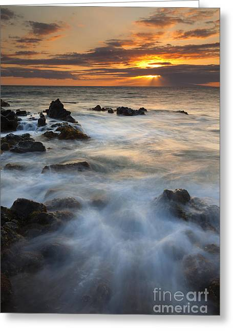 Crepuscular Rays Greeting Cards - Sunbeams over Lanai Greeting Card by Mike Dawson