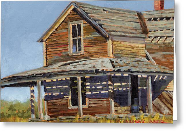 Abandoned House Paintings Greeting Cards - Sunblistered Silence Greeting Card by Marguerite Chadwick-Juner