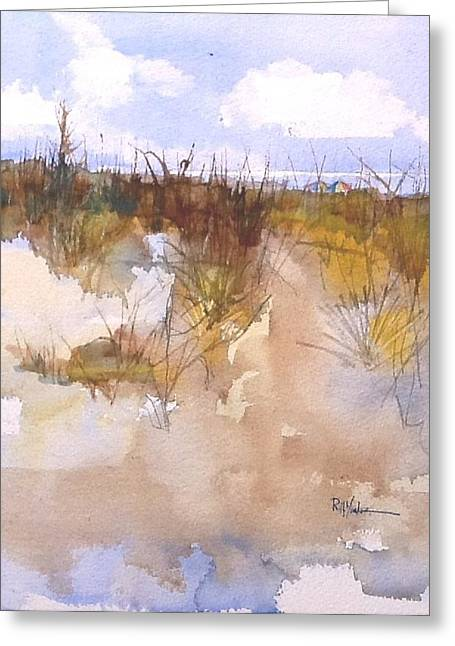 Sea Grass In The Sand Greeting Cards - Sunbrella Greeting Card by Robert Yonke