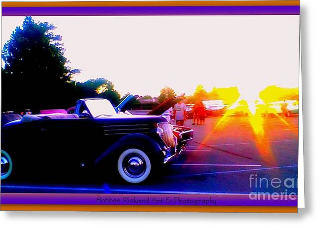 Print On Acrylic Greeting Cards - Sunburst Greeting Card by Bobbee Rickard