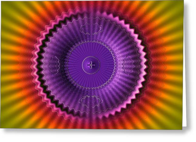 21st Greeting Cards - Sunburst Glow Greeting Card by Visual Artist  Frank Bonilla