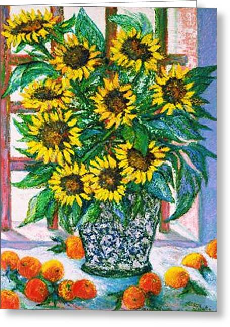 Gay Art Framed Giclee On Canvas Greeting Cards - Sunburst Greeting Card by Gunter  Hortz