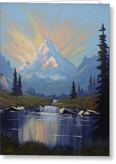 Sunburst Landscape Greeting Card by Richard Faulkner