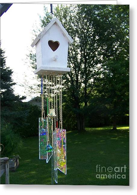 Iridescent Glass Greeting Cards - Suncatcher #51 Greeting Card by Jackie Mueller-Jones