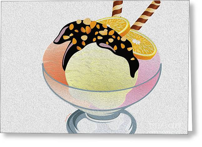 Chocolate Syrup Greeting Cards - Sundae Greeting Card by Cheryl Young