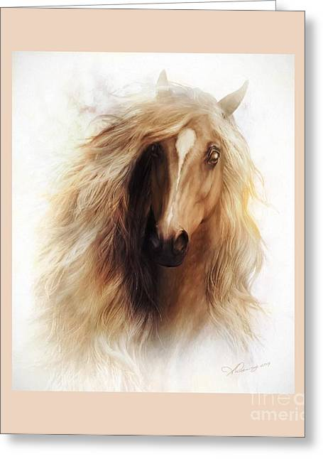 White Face Mountain Greeting Cards - Sundance Mustang Frame Greeting Card by Shanina Conway