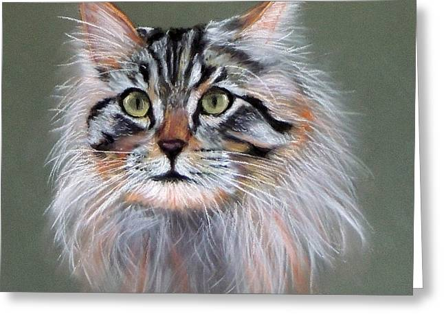 Cute Kitten Pastels Greeting Cards - Sundancer Greeting Card by Ruth Jamieson