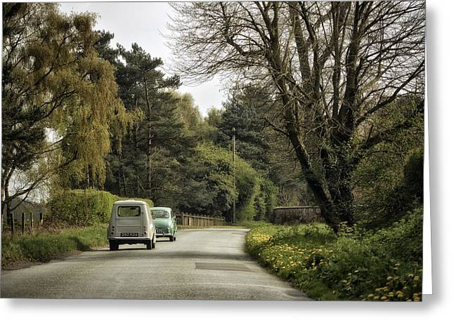 Pair Driving Greeting Cards - Sunday Afternoon Drivers Greeting Card by Jason Green