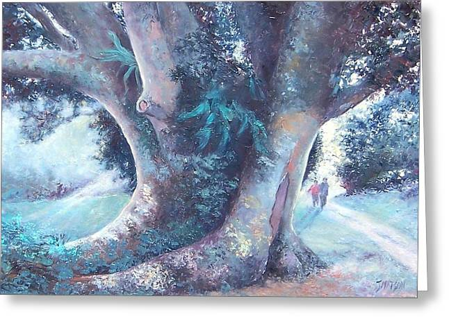 Fig Trees Greeting Cards - Sunday Afternoon Greeting Card by Jan Matson