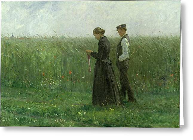 Man And Woman Greeting Cards - Sunday Afternoon Greeting Card by Leopold Karl Walter von Kalckreuth