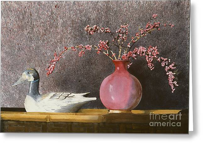 A Hand-thrown Paintings Greeting Cards - Sunday Afternoon Greeting Card by Monte Toon