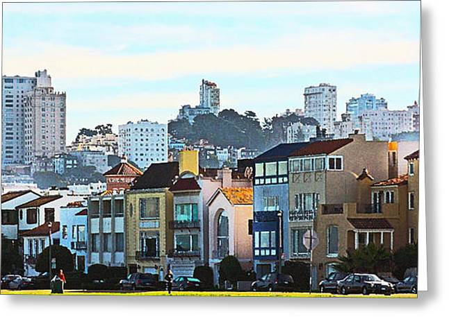 Laura Wrede Greeting Cards - Sunday at Marina Green Park Fort Mason San Francisco CA Greeting Card by Artist and Photographer Laura Wrede
