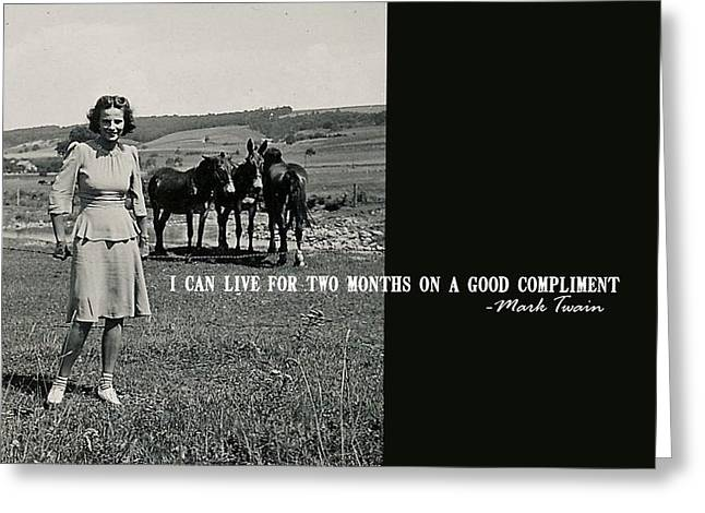 Mark Twain Quote Greeting Cards - SUNDAY BEST quote Greeting Card by JAMART Photography