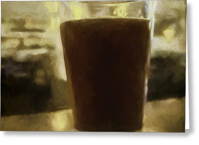 Water Jug Greeting Cards - Sunday Brewsky Greeting Card by Jean OKeeffe Macro Abundance Art