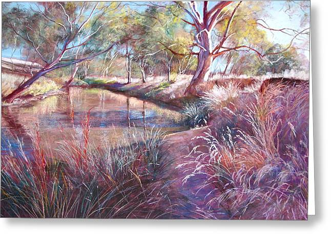 Lynda Robinson Greeting Cards - Sunday Creek at Docherys Road Greeting Card by Lynda Robinson