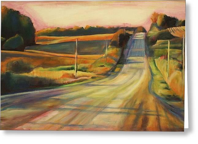 Sheila Diemert Paintings Greeting Cards - Sunday Drive Greeting Card by Sheila Diemert