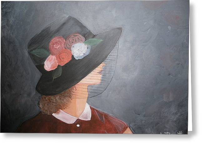 Sunday Hat Greeting Card by Glenda Barrett