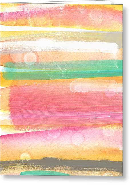 Bedroom Art Greeting Cards - Sunday In The Park- contemporary abstract painting Greeting Card by Linda Woods