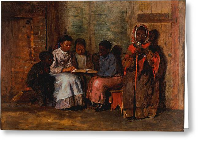 African American History Paintings Greeting Cards - Sunday Morning in Virginia Greeting Card by Winslow Homer