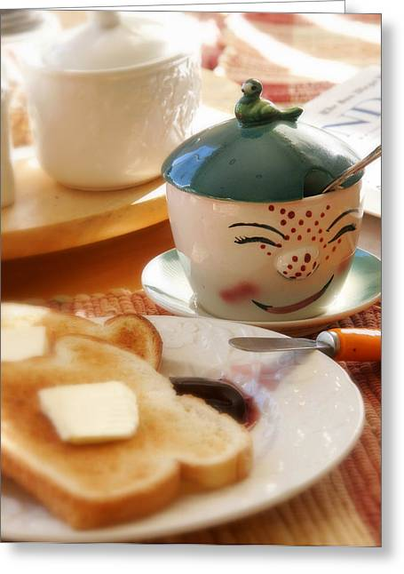 Grandma Greeting Cards - Sunday Morning Jelly Jar Greeting Card by Peter Tellone