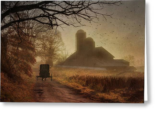 Amish Greeting Cards - Sunday Morning Greeting Card by Lori Deiter