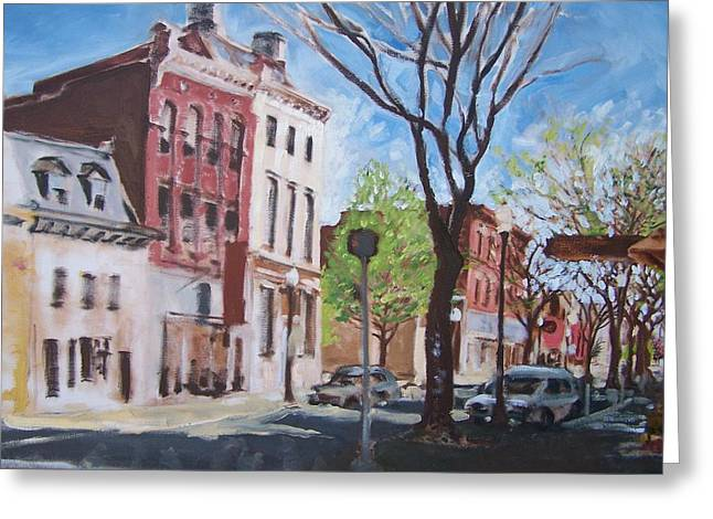 Williamsport Greeting Cards - Sunday Morning Williamsport Greeting Card by Geoffrey Haun