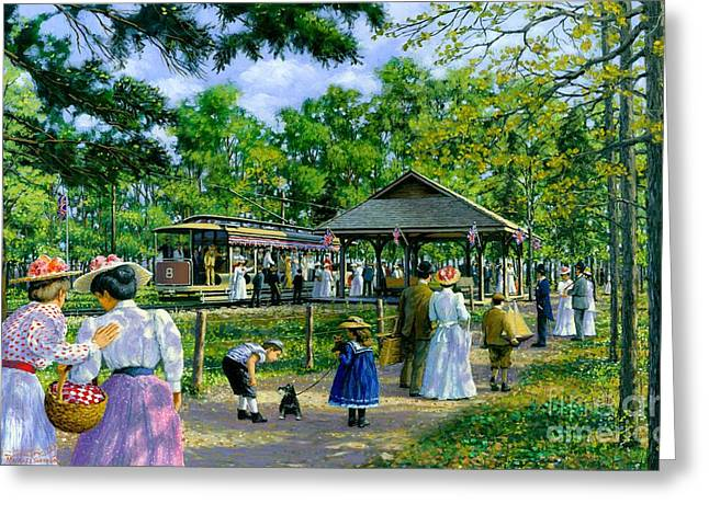 Sunday Picnic Greeting Cards - Sunday Picnic Greeting Card by Michael Swanson