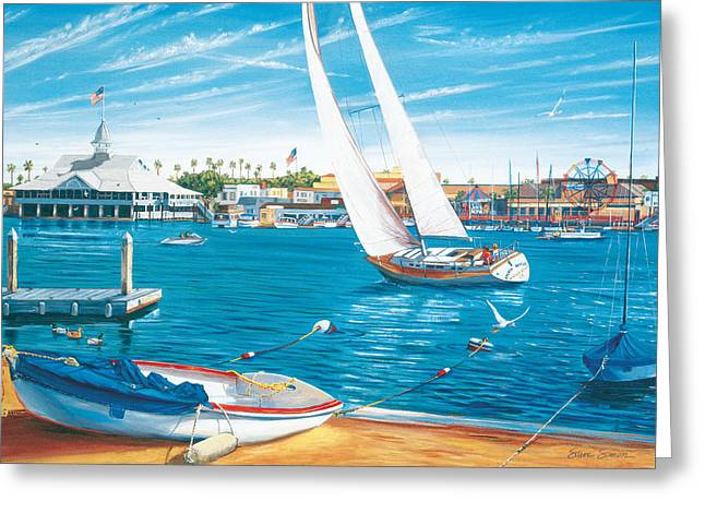 Balboa Greeting Cards - Sunday Sail Greeting Card by Steve Simon