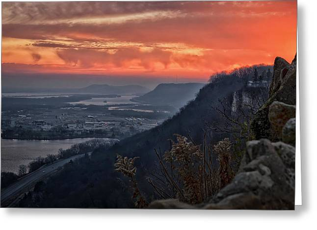 Height Greeting Cards - Sunday Sunrise Greeting Card by Al  Mueller