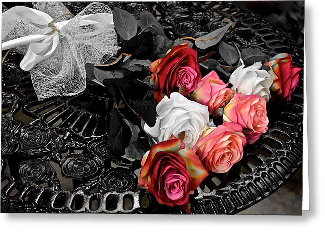 Hive Greeting Cards - Sundial Bouquet Greeting Card by Frozen in Time Fine Art Photography